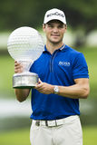 Martin Kaymer - Winner. Alternate view, with different background location Royalty Free Stock Photo