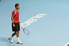 Martin Klizan i Valencia öppen tennis Spanien Arkivbilder
