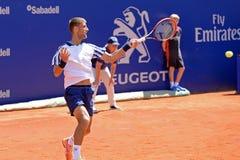Martin Klizan (jugador de tenis de Eslovaquia) juega en el ATP Barcelona Fotografía de archivo libre de regalías