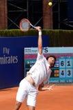 Martin Klizan (jugador de tenis de Eslovaquia) juega en el ATP Barcelona Foto de archivo libre de regalías