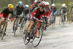 Martin Kohler of BMC Racing Team. Rides during the Tour of Catalonia cycling race through the streets of Monjuich mountain in Barcelona on March 30, 2014 royalty free stock images