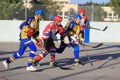 Martin Krucek - ball hockey Stock Images
