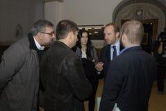 MARTIN LIDEGAARD AND NIKOLAJ MILLUMSEN Stock Photo