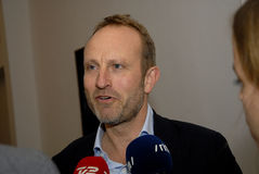 MARTIN LIDEGAARD_SPOKEPERSON FOR RADICAL LIBERAL PARY. 14 October 2016_ Copenhagen_Denmark.   Martin Lidegaard, former minister for foreign affair and Royalty Free Stock Photo