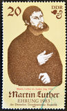 Martin Luther. GERMANY - CIRCA 1982: A stamp printed in Germany shows Martin Luther, circa 1982 Stock Image