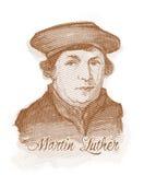 Martin Luther akvarellstående Royaltyfri Fotografi