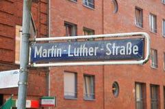 Martin Luther gata arkivbild