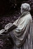 Martin Luther holding a bible, bronze statue. Berlin, Martin Luther statue holding the reformed bible stock image
