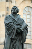 Martin Luther. JANUARY 2008 - DRESDEN: the statue of Martin Luther, Neumarkt, Dresden Stock Image