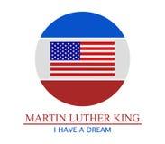 Martin Luther King ilustração royalty free
