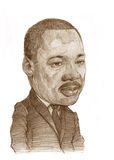 Martin Luther King. Illustration for editorial use for newspapers, magazines and web Stock Photos