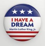 Martin Luther King, botão do Jr. Imagem de Stock