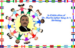 Martin Luther King com miúdos Fotos de Stock Royalty Free
