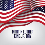 Martin Luther King Day American flagga stock illustrationer