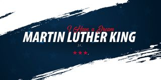 Martin Luther King day background. I have a dream. Vector illustration. royalty free illustration