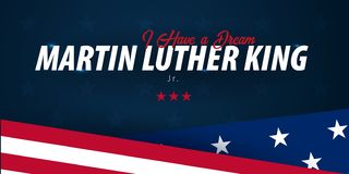 Martin Luther King day background. I have a dream. Vector illustration. vector illustration