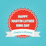 Martin Luther King Day Badge Royalty Free Stock Photos