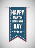 Martin Luther King Day on the blue stripe Royalty Free Stock Photography