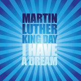 Martin Luther King Day burst type design Royalty Free Stock Images