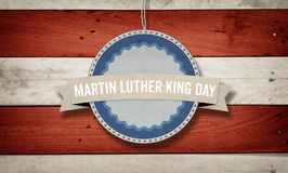 Martin Luther King Day banner in US color scheme Stock Photos