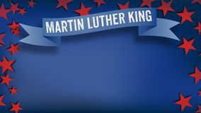 Martin Luther King Day banner in US color scheme Stock Photo