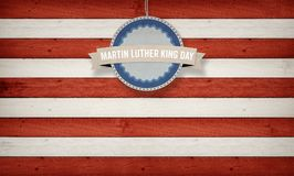Martin Luther King Day banner in US color scheme Stock Images