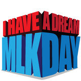 Martin Luther King Day 3d typography Royalty Free Stock Images