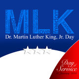 Martin Luther King Day. Dr. Martin Luther King, Jr.   20th January, 2014 - Day of Service Royalty Free Stock Image