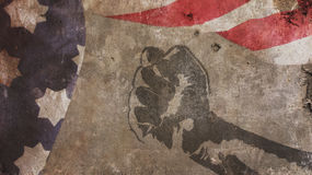 Martin Luther King Day. Flag Concrete. And Fist Royalty Free Stock Image