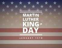 Martin Luther King Day greeting card - vector. Martin Luther King Day greeting card - American flag abstract background illustration - vector stock illustration