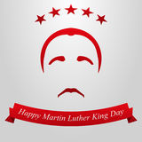 Martin Luther King Day. Hairstyle, mustache and flag vector illustration