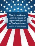 Martin Luther King Day-Hintergrund lizenzfreie abbildung