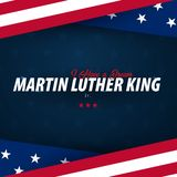 Martin Luther King Day-Hintergrund Ich habe einen Traum Auch im corel abgehobenen Betrag vektor abbildung