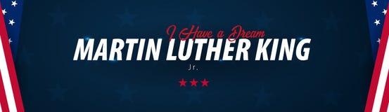 Martin Luther King Day-Hintergrund Ich habe einen Traum Auch im corel abgehobenen Betrag stock abbildung