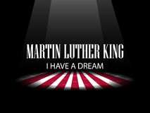 Martin Luther King Day. I have a dream. The light on the scene. Vector Stock Images