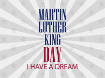 Martin luther king day. I have a dream. Vector Stock Photos