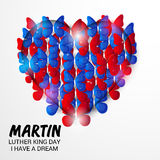 Martin Luther King Day. Illustration of a banner for Martin Luther King Day stock illustration