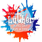 Martin Luther King Day. Illustration of a banner for Martin Luther King Day vector illustration