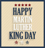 Martin Luther King day retro poster Royalty Free Stock Image