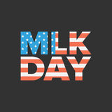 Martin Luther King Day. Sign with USA flag background vector illustration