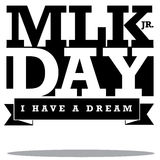 Martin Luther King Day type design Stock Photography