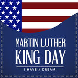 Martin Luther King Day. Vector illustration of stylish text for Martin Luther King Day background stock illustration