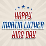 Martin Luther King Day. Vector illustration of stylish text for Martin Luther King Day background vector illustration