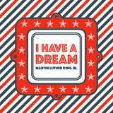 Martin Luther King Day Vintage Badge Lizenzfreie Stockbilder
