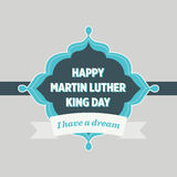 Martin Luther King Day Vintage Badge Stock Photo