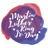 Martin Luther King Day watercolor Royalty Free Stock Images