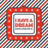 Martin Luther King dnia rocznika odznaka Obrazy Royalty Free