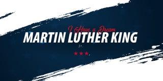 Martin Luther King dnia tło sen i również zwrócić corel ilustracji wektora royalty ilustracja