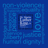 Martin Luther King. Dr. Martin Luther King, Jr. 20th January, 2014 - Day of Service royalty free illustration