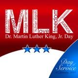 Martin Luther King dzień ilustracja wektor